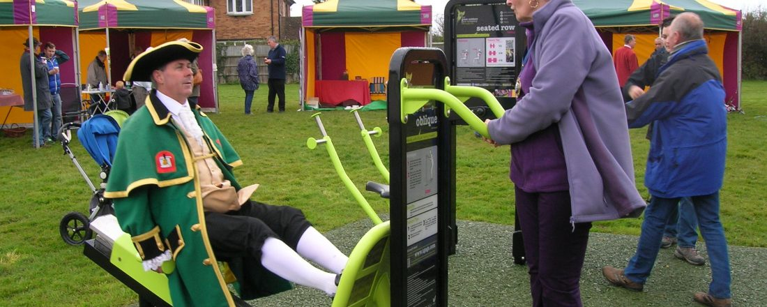 The Out Door Gym at the Watchet Memorial Ground Play Area